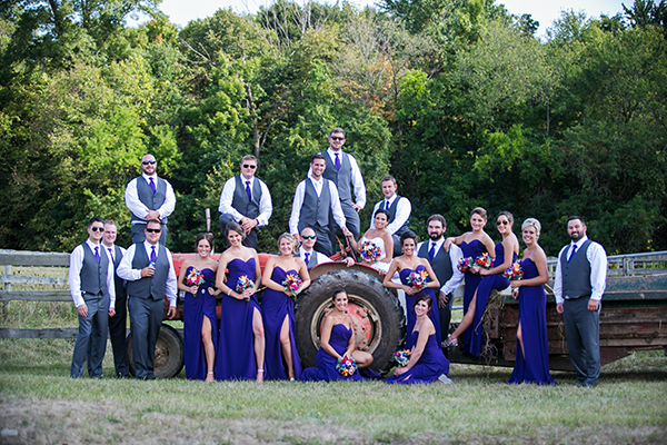 Lindsay & Andrew - A Rustic Sunset Soiree | Photo by BCR Studios by Brad | As seen on Todaysbride.com | Rustic Wedding
