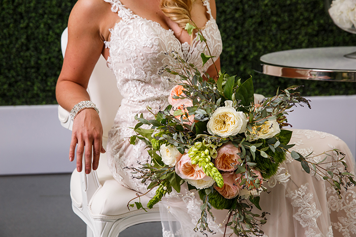 Modern Mix | A Today's Bride Styled Shoot, Genevieve Nisly Photography, Rock & Roll Hall of Fame wedding, modern copper wedding, geometric wedding, rock wedding, green wedding, copper and emerald wedding