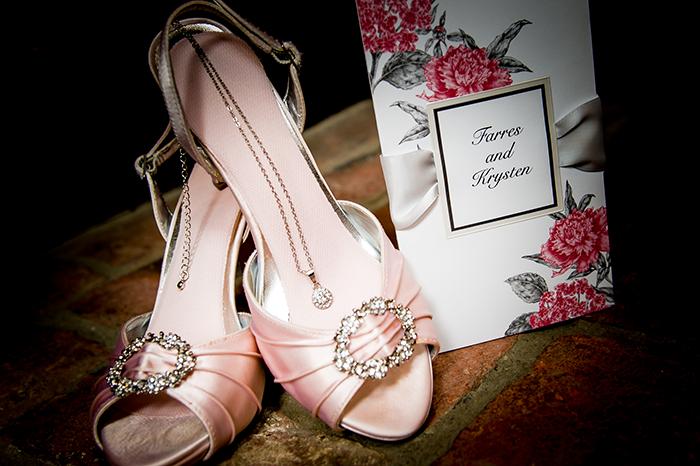 Krysten & Farres - Classic Cleveland Wedding | John Paul Studios, LLC | As seen on Todaysbride.com Real Weddings | Ohio wedding, pink wedding, wedding shoes, bridal shoes,