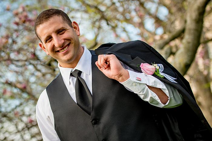Krysten & Farres - Classic Cleveland Wedding | John Paul Studios, LLC | As seen on Todaysbride.com Real Weddings | Ohio wedding, pink wedding, groom fashion, tuxedo