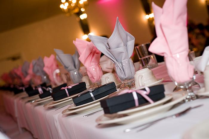 Krysten & Farres - Classic Cleveland Wedding | John Paul Studios, LLC | As seen on Todaysbride.com Real Weddings | Ohio wedding, pink wedding, pink and grey wedding decor