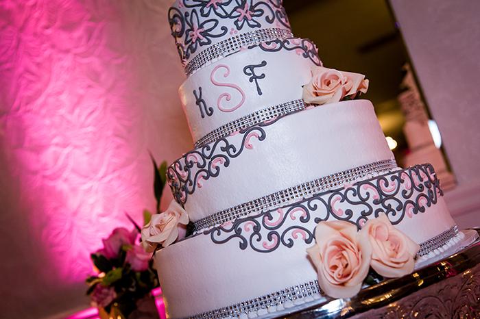 Krysten & Farres - Classic Cleveland Wedding | John Paul Studios, LLC | As seen on Todaysbride.com Real Weddings | Ohio wedding, pink wedding, wedding cake