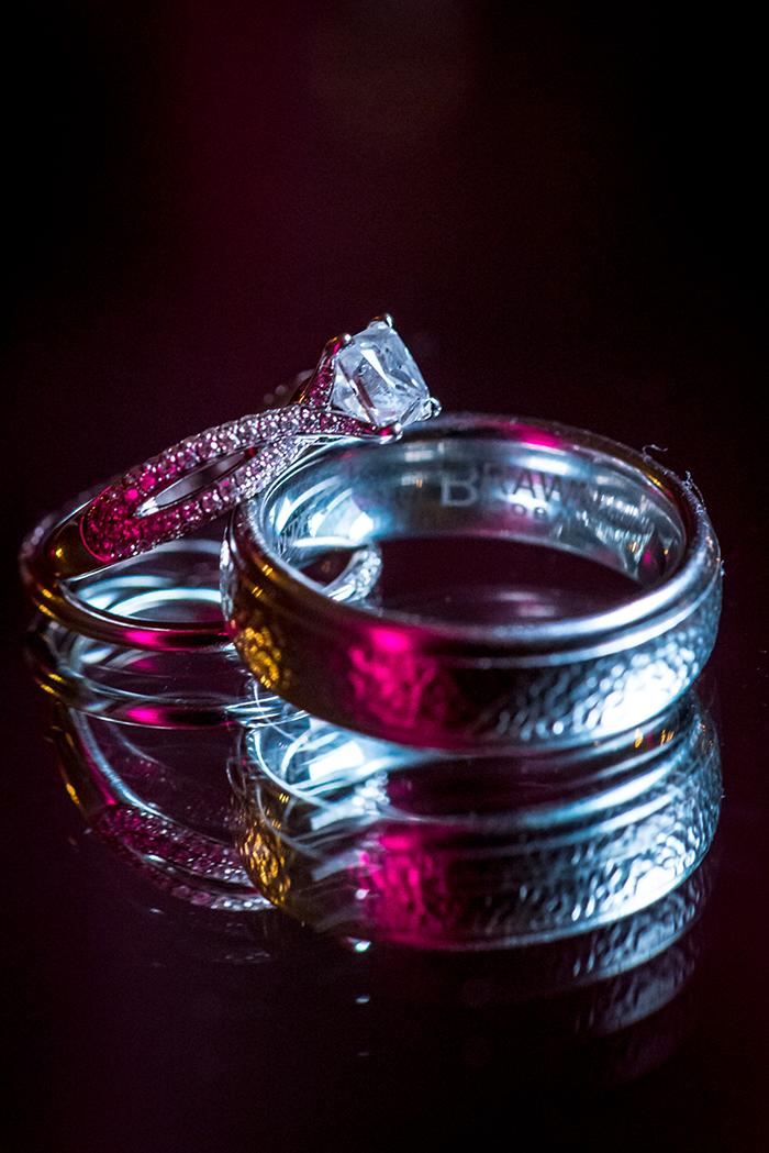 Krysten & Farres - Classic Cleveland Wedding | John Paul Studios, LLC | As seen on Todaysbride.com Real Weddings | Ohio wedding, pink wedding, ring shot