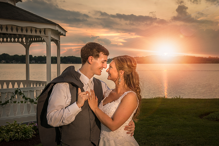 Marissa & Tanner - SpringLake Party Center Soiree | Dom Chiera Photography | Real weddings as seen on Today's Bride | real ohio outdoor wedding, gazebo, purple plum wedding ideas, wedding dress,