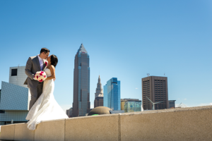 Fransiska & Craig - Classic in Cleveland | Kay Photo & Design | Real Ohio Wedding as seen on TodaysBride.com, cleveland wedding, city wedding, navy and pink wedding, wedding photography
