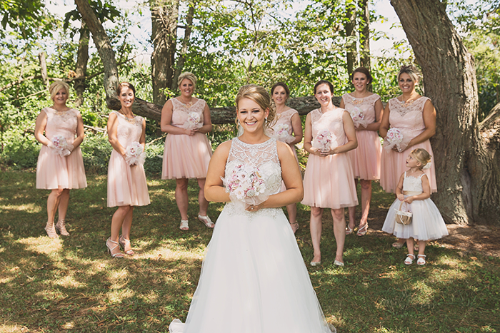 Amanda & Shawn - The Sweetest Day | Oh Snap! Photography | Real Wedding As seen on TodaysBride.com | Real ohio wedding, blush and gold wedding, wedding photography, blush and gold wedding color pallet blush bridesmaid dresses, short bridesmaid gowns