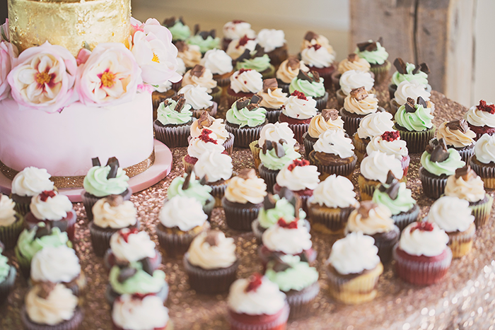Amanda & Shawn - The Sweetest Day | Oh Snap! Photography | Real Wedding As seen on TodaysBride.com | Real ohio wedding, blush and gold wedding, wedding photography, blush and gold wedding color pallet cupcakes