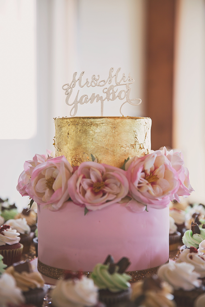 Amanda & Shawn - The Sweetest Day | Oh Snap! Photography | Real Wedding As seen on TodaysBride.com | Real ohio wedding, blush and gold wedding, wedding photography, blush and gold wedding color pallet wedding cake with script cake topper