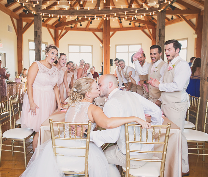 Amanda & Shawn - The Sweetest Day | Oh Snap! Photography | Real Wedding As seen on TodaysBride.com | Real ohio wedding, blush and gold wedding, wedding photography, blush and gold wedding color pallet reception