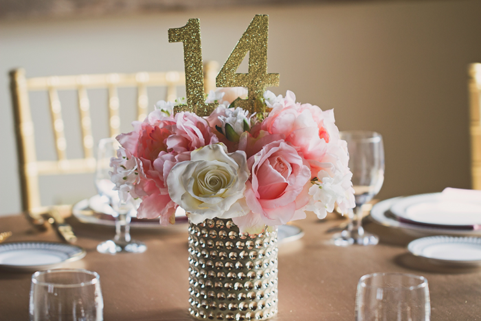 Amanda & Shawn - The Sweetest Day | Oh Snap! Photography | Real Wedding As seen on TodaysBride.com | Real ohio wedding, blush and gold wedding, wedding photography, blush and gold wedding color pallet centerpiece and table numbers
