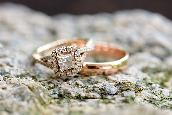 Katie & Nolan - A Military Marriage | Sabrina Hall Photography | Real Ohio Wedding as seen on TodaysBride.com, ohio wedding, military wedding ideas, rose gold wedding rings engagement ring