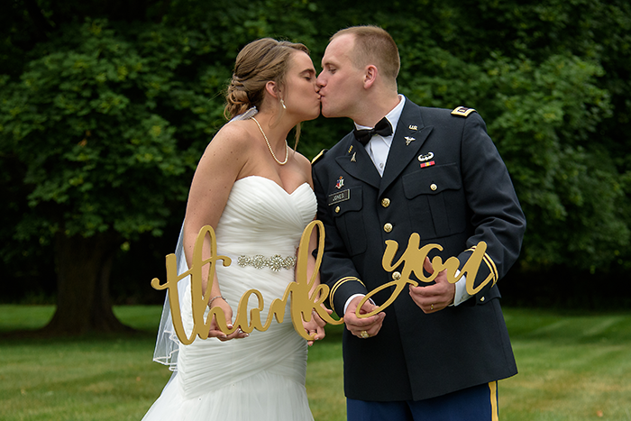 Katie & Nolan - A Military Marriage | Sabrina Hall Photography | Real Ohio Wedding as seen on TodaysBride.com, ohio wedding, military wedding ideas, wedding thank you ideas