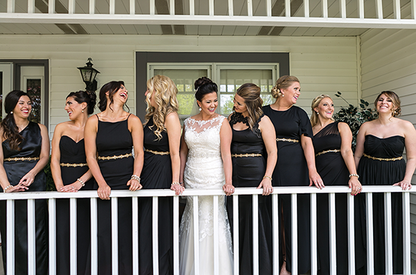 Dana & Mike - Timeless Wedding Day | LMAC Photography, Real Akron Ohio wedding as seen on TodaysBride.com, black white and gold wedding, classic wedding, timeless wedding, traditional wedding ideas