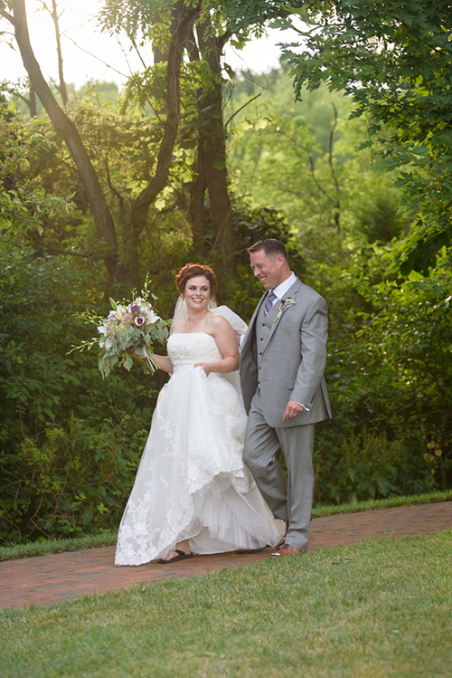 Carrie & Frank - Classic Gervasi Vineyard Wedding | Real Ohio Wedding shot by David Corey Photography and seen on TodaysBride.com, New Orleans wedding theme, purple wedding, gervasi wedding, vineyard wedding