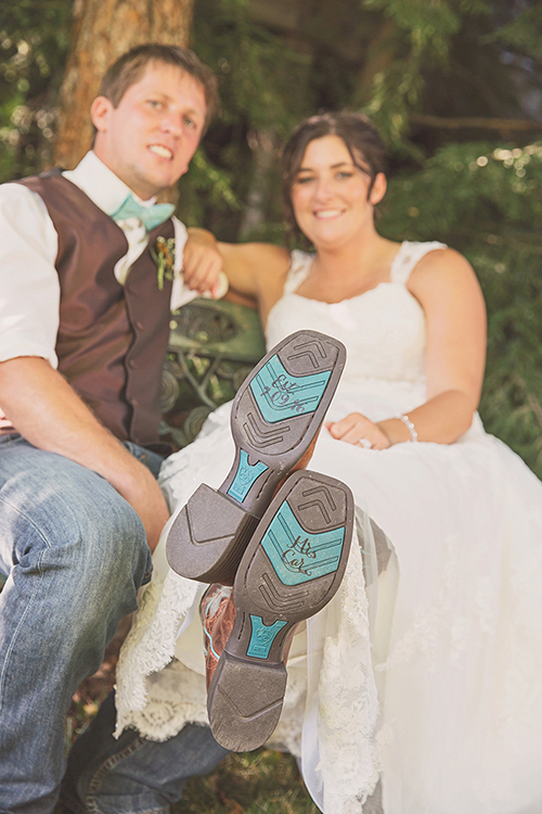 Jackie & Nicholas - Rustic Tree Farm Wedding | Oh Snap! Photography, real Ohio wedding as seen on TodaysBride.com, country ohio wedding, rustic wedding, bride cowboy boots, bride in cowgirl boots