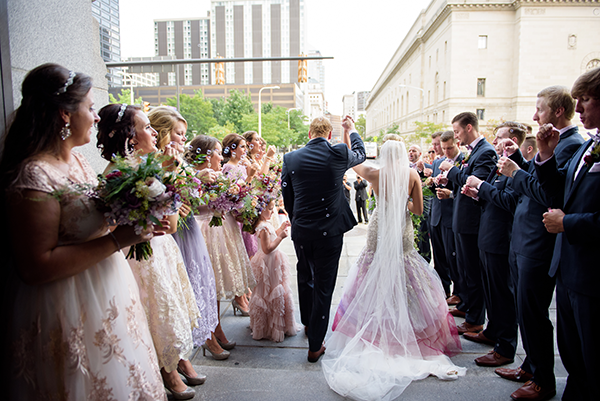 Ashley & Bryce - Enchanted Forest Wedding | Sabrina Hall Photography, Real Cleveland Wedding as seen on TodaysBride.com. enchanted forest wedding, woodland wedding, fairy tale wedding, city wedding, colorful wedding ideas