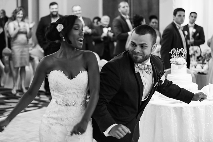 Bryaune & John - Bright Superhero Wedding | JazzyMae Photography | Real Cleveland Ohio wedding as seen on Todaysbride.com, coral and purple wedding, superhero wedding ideas, comic book groomsmen, superhero groomsmen, cleveland wedding,