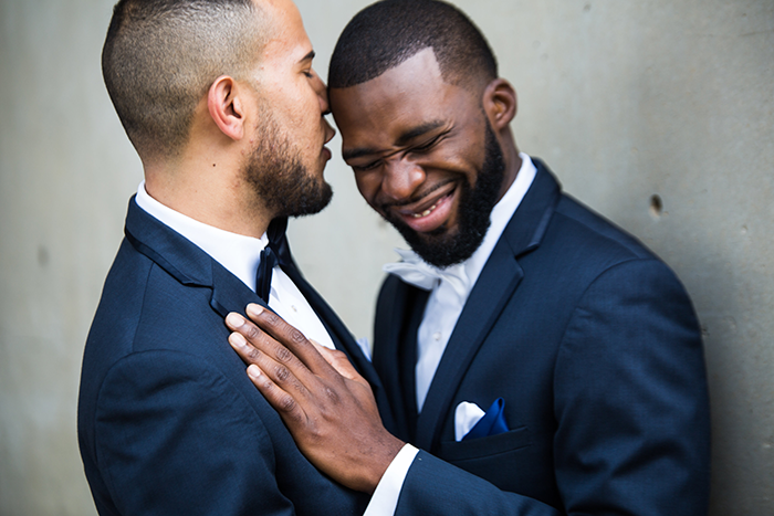 Mario & Ryan - Rustic Meets Modern | JazzyMae Photography, real cleveland wedding as seen on todaysbride.com, gay wedding, lgbtq wedding, cleveland wedding, warehouse wedding, navy and yellow wedding
