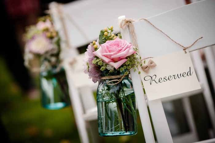 Reserved seating for family | Artistic Photography by Glenda | As seen on TodaysBride.com
