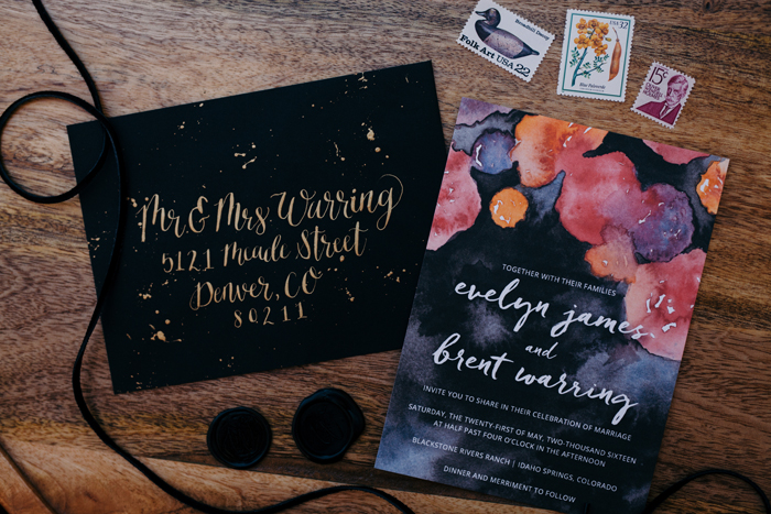 Wedding Invitations | Cassie Rosch Photography | As seen on TodaysBride.com