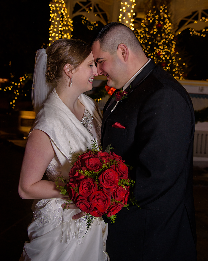 Kaylee & Vincent - Winter Wonderland Wedding | Real Ohio Wedding as seen on TodaysBride.com Photographed by Sabrina Hall Photography, Christmas wedding ideas, winter wedding ideas,