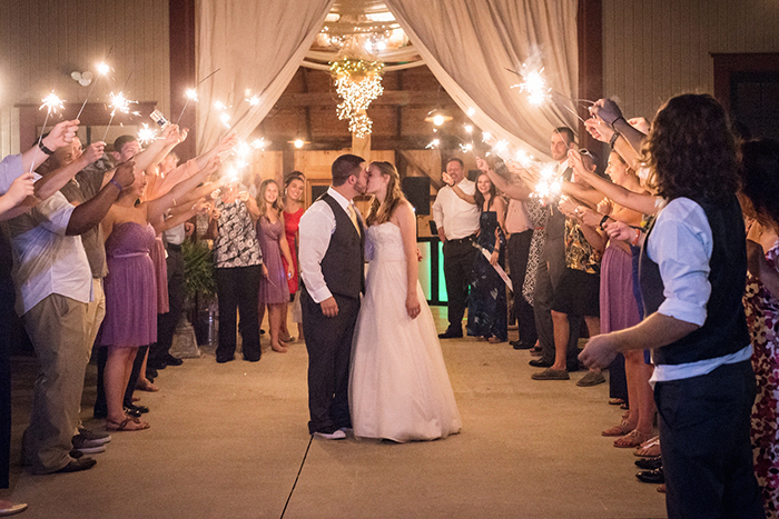 Caitlin & Patrick - Peacock Ridge Wedding | Real Ohio Wedding as seen on TodaysBride.com, photographed by Black Dog Photo Co, Rustic wedding, sparkler send off