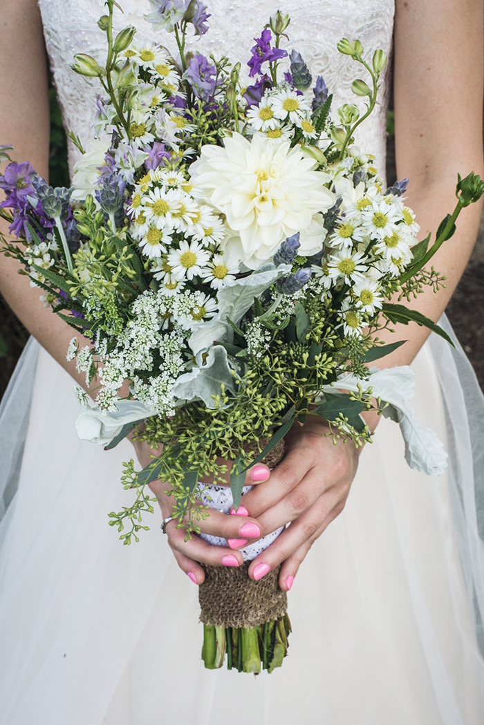 Caitlin & Patrick - Peacock Ridge Wedding | Real Ohio Wedding as seen on TodaysBride.com, photographed by Black Dog Photo Co, Rustic wedding, organic bouquet
