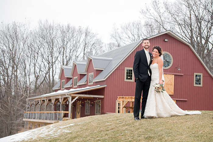 Trinity & Zachary - Rustic Chic Wedding | Real Ohio Wedding as seen on TodaysBride.com, klodt photography, winter wedding, wine wedding, merlot wedding, winter wedding ideas, burgundy wedding