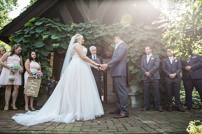Carolyn & Richard - Stan Hywet Wedding Ceremony, Karen Menyhart Photography, real ohio wedding, pink and white wedding