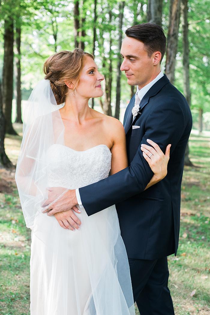 Kelly & Chris - Chagrin Falls Wedding | Orchard photography as seen on TodaysBride.com, ohio wedding, bride, groom, natural wedding, neutral wedding
