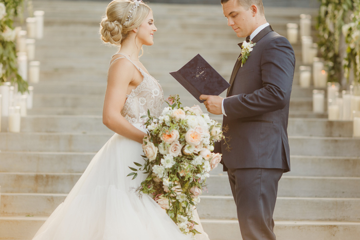 Wedding Vows | Kristen Booth Photography | As seen on TodaysBride.com