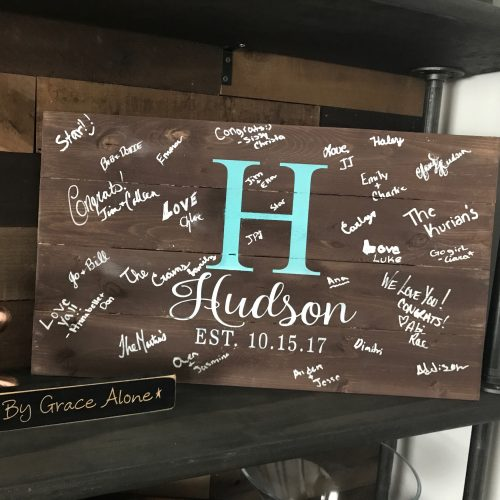 Wooden Guestbook Sign