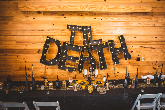 Halloween Wedding | Rob + Kristen Photography | As seen on TodaysBride.com