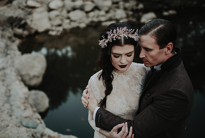 Dark And Moody Halloween Styled Shoot Today S Bride