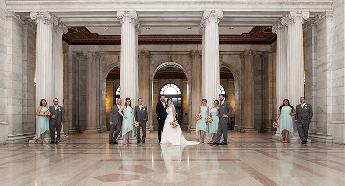Stephanie & Matthew - Mint & Peach Medina Wedding