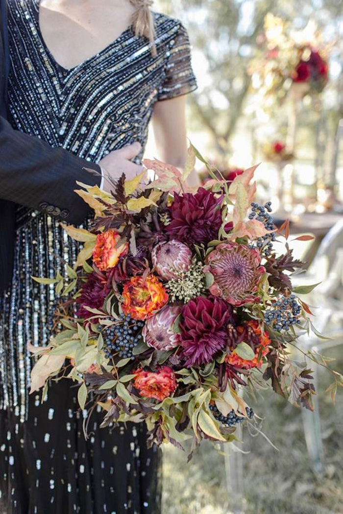 Fall Wedding Bouquet | Cassandra Castaneda Photography | As seen on TodaysBride.com