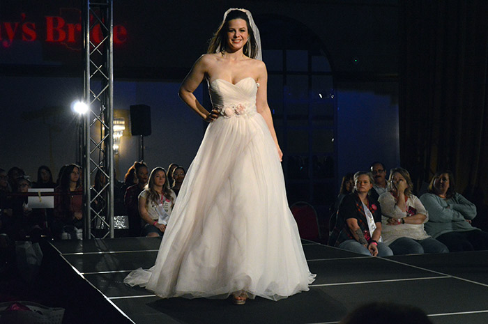 Today's Bride 2018 bridal fashion show, wedding dresses, bridesmaid dresses, mother of dresses, & grooms tuxedos of all of the latest trends in fashion all on one stage!