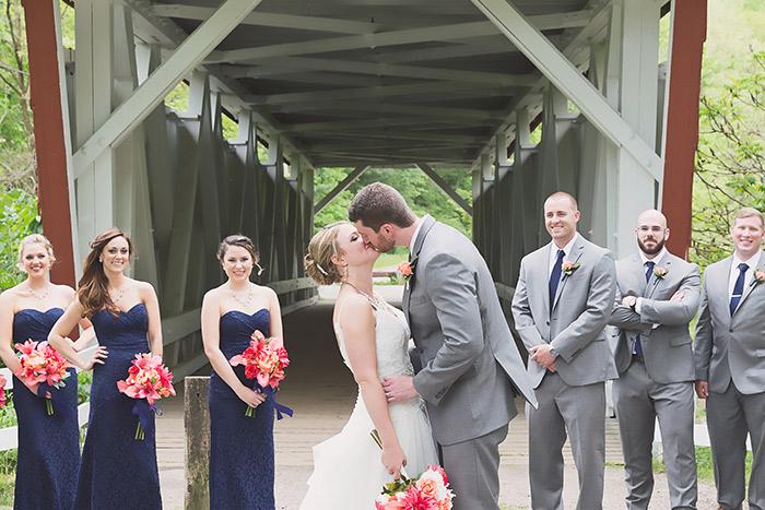 Rachel & Robert - Todaro Party Center Wedding, real wedding, navy and coral wedding, old truck wedding photos, wedding inspiration