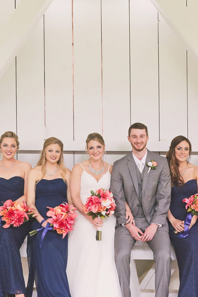 Rachel & Robert - Todaro Party Center Wedding, real wedding, navy and coral wedding, old truck wedding photos, wedding inspiration