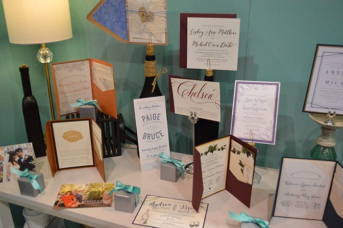 Wedding invtations at the Today's Bride Wedding Show
