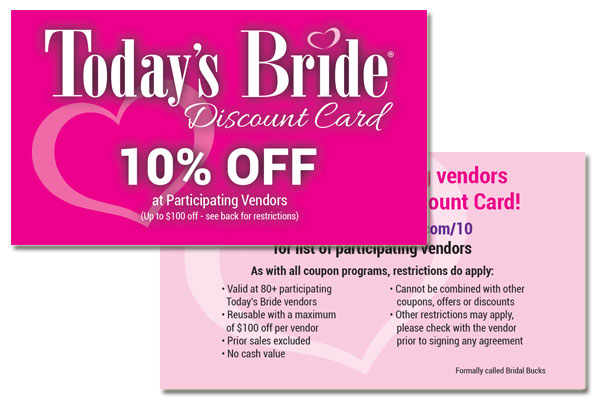 The Today's Bride Discount Card