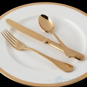 Savoy Gold Flatware Collection from All Occasions Party Rental