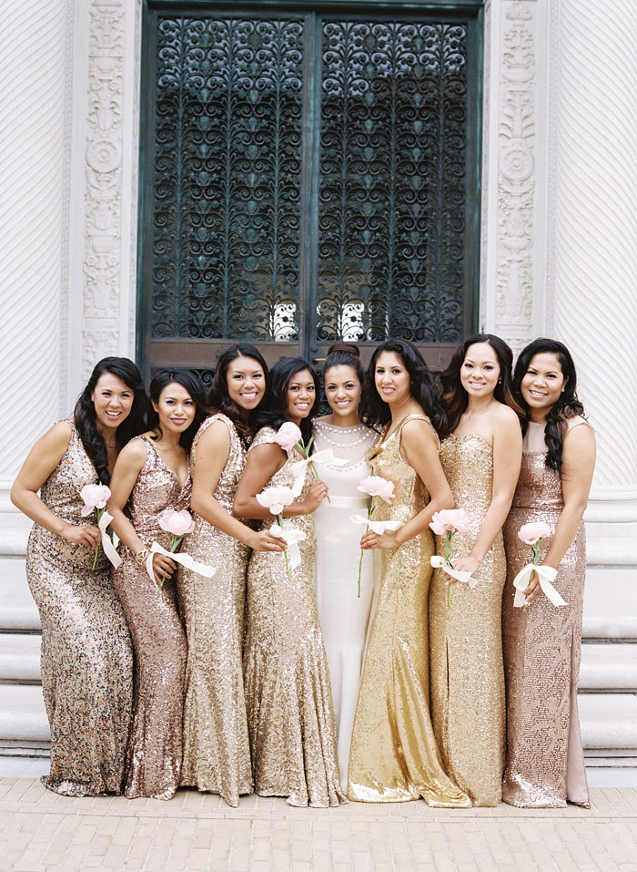 Bridemaids' Dresses|Jose Villa Photography| As seen on TodaysBride.com