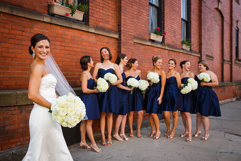 Bridesmaids' dresses| Genevieve Nisly Photography| As seen on TodaysBride.com