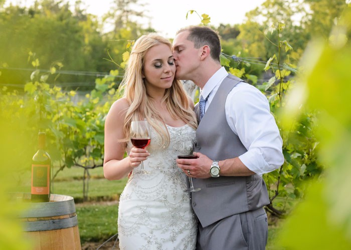 Amber & Justin - A Joyful Vineyard Wedding by David Corey Photography
