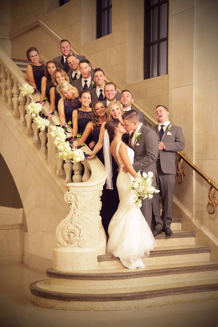 Celia & Luke - Cheers to the New Year Real Wedding as seen on Todaysbride.com | Riverfront Photography