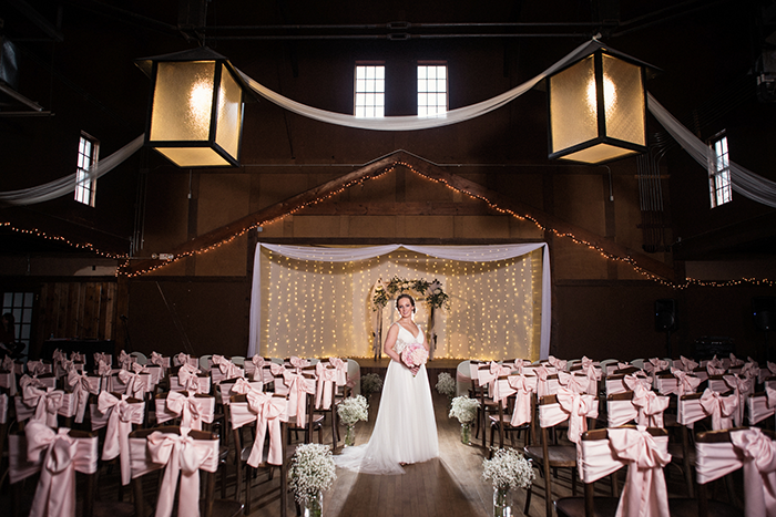 Kristin & Eric - Romantically Rustic | Black Dog Photo Co | As seen on Todaysbride.com | wedding ceremony decor, blush wedding ideas, wedding ceremony arch, maggie sottero phyllis wedding dress