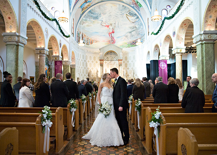 Brittany & Nicholas - Cleveland Elegance | Karen Menyhart Photography | As seen on TodaysBride.com | Cleveland Wedding Photography, Winter wedding ideas, church ceremony