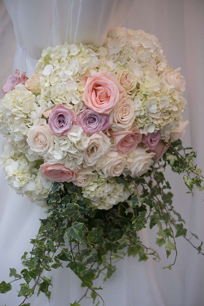 Shannon & Andrew - A Modern Fairy Tale | Photos by New Image Photography | As seen on TodaysBride.com | bridal bouquet, wedding bouquet, white ivory blush bouquet
