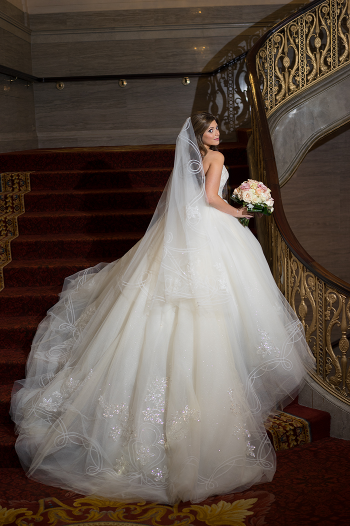 Shannon & Andrew - A Modern Fairy Tale | Photos by New Image Photography | As seen on TodaysBride.com | wedidng dress, ballgown, princess ball gown